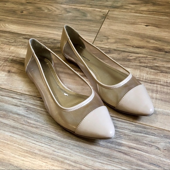 a112049cac9 BCBGeneration Shoes - BCBGeneration Patent Nude Pointy Toe Flats 8.5